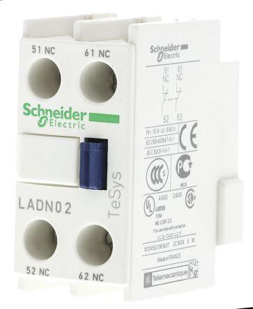 Schneider LADN02 Front Contact Block 2NC
