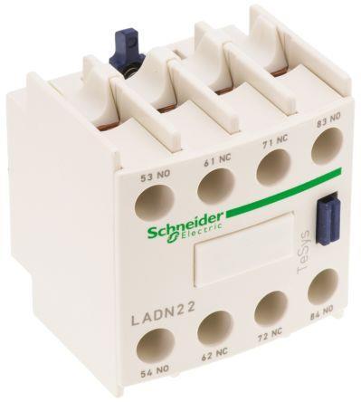 Schneider LADN22 Front Con/Blk 2NO+2NC