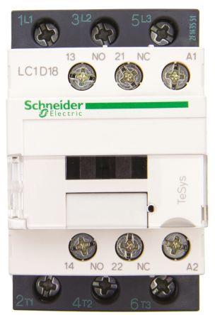 Schneider LC1D18N7 Contc 18A 415V50/60Hz