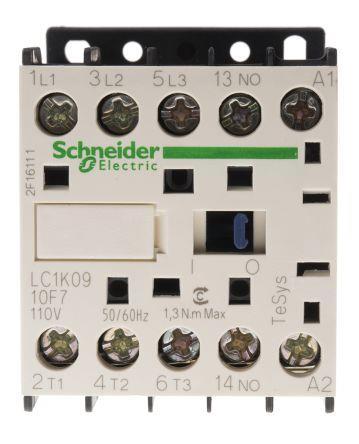 Schneider LC1K0910F7 Contactor 9A 110V